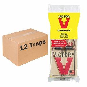 Victor Lot de 12 pièges à pédale en métal pour Rats Fabriqué aux États-Unis 12 Pack Basic