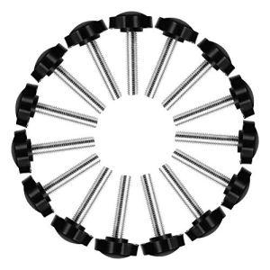 Vis à poignée étoile 15 pièces. M8 x 40 mm vis à filetage externe en acier vis en plastique en plastique étoile vis à filetage externe vis moletée pour meubles de machine-outil