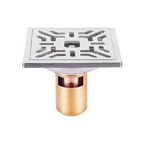 Voixy Siphon de Sol Grille Drainage pour Salle de Bain Cuisine Balcon en Acier Inoxydable 304 10×10 cm (522, Profond)