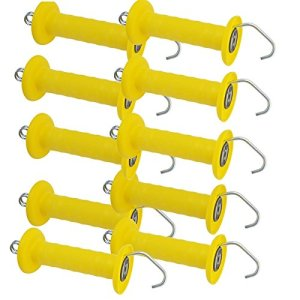 Voss poignée jaune 10 x crochets pour clôture torgriffe pferdezaun-cadenas lot gAH-alberts poignée de porte