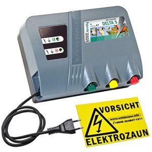 VOSS.farming Électrificateur 230V « Delta 5 » – Protection Parfaite pour les Pâturages – Clôture électrique