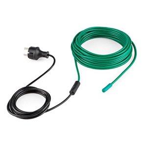Waldbeck Greenwire – Câble Chauffant 12m pour Plantes, Protection antigel, 60W, Norme IP44 Contre Les éclaboussures, Vert