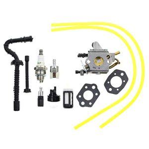Weiqu C1Q-S258 Carburateur pour tronçonneuse Stihl MS192 MS192T MS192TC Remplace Zama C1Q-S258 1137-120-0650 avec filtre de ligne de carburant pour désherbage de jardin