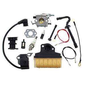 Weiqu Carburateur pour Stihl 021 023 025 MS210 MS230 MS250 Carb de tronçonneuse avec filtre à air 1123 160 1650 Bobine de carburant pour désherbage de jardin