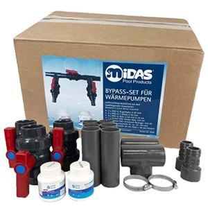 well2wellness® Midas Pool Bypass Set pour pompes à chaleur, chauffe-piscines et chauffe-eau solaires