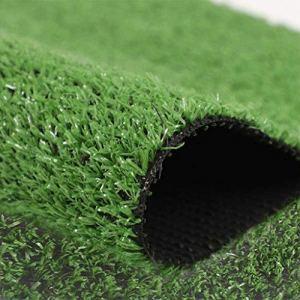 WZYJ Gazon Artificiel, pelouse de Gazon en Plastique de Mousse de Simulation de Bricolage, vidange Rapide, pour la décoration de Plantes Vertes de Jardin extérieur intérieur,2 * 5m