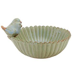 YARNOW Bain d'oiseaux Bol en Céramique Mangeoire pour Oiseaux Bains d'eau pour Oiseaux Sauvages Pot de Pépinière Cactus Succulent Nénuphar Bol Hydroponique Pot de Jonquille pour Jardin