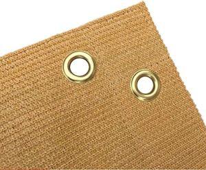 YZJL Deck Confidentialité Écran Durable Vent et UV Protection Respirante Eyelet HDPE HDPE Eyelet Faux décoratifs Piscine et Jardin Écrans de Jardin clôture de Jardin (Color : Beige, Size : 1.5x1m)