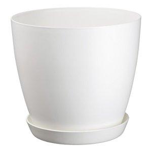 ZANVIC Pot begonya Fresh Round Receveur Inclus 12cm, Blanc, 12x 12x 11cm, za451