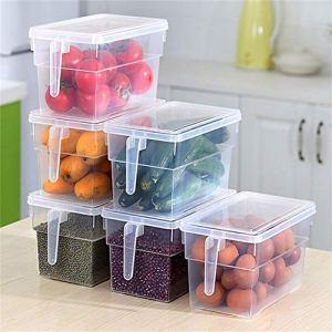Zhouba Boîte de rangement hermétique pour réfrigérateur transparent
