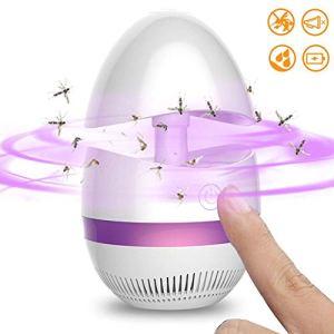 3W Mosquito Lamp Killer, piège USB Mosquito Bug Zapper Lumière, for Bureau Extérieur Intérieur Chambre à Coucher Chambre bébé Cuisine, Fly Insectes Catcher/Violet FACAI