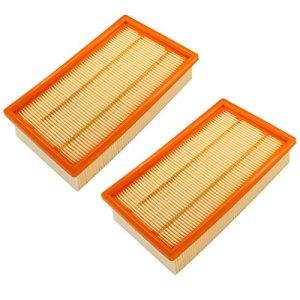 AISEN 2 filtres à air à lamelles pour Kärcher 6.904-206.0, 6.904-176.0, 6.904-190.0, 6.904-287.0, 6.904-360.0, 6.907-012-0, 6.907-455.0