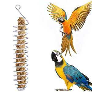 Alacritua Mangeoire à oiseaux en acier inoxydable pour poules et oiseaux