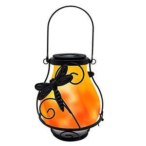 ALEOHALTER Lanternes solaires, lampe de cour à flamme vacillante réaliste et étanche, éclairage paysager pour jardin et cour