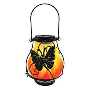 ALEOHALTER Lanternes solaires, Lampe de Flamme de Simulation de Cour Solaire Flamme Scintillante réaliste Auto on Off éclairage de Paysage étanche pour Le décor de Jardin
