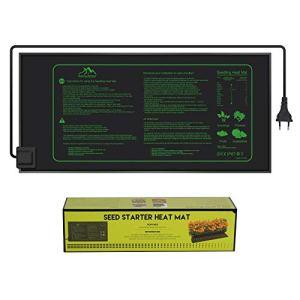 Awroutdoor Tapis Chauffant 25x52cm, 21W Coussin de Chauffage Hydroponique ImperméAble pour L'Usine de Reptile de Graine avec la Protection Contre la Puissance SûRe et Durable
