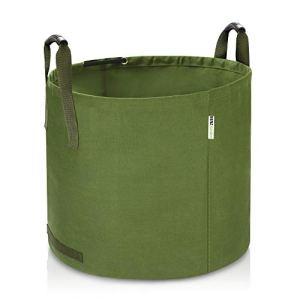 Benz Garden® Sac de déchets de Jardin 125 l indéchirable | Tissu en Lin très Stable | Sac de Jardin (1)