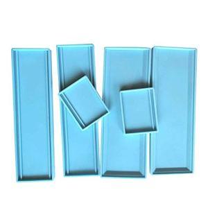 Boîte Silicone 6Pcs Domino boîte de Rangement Silicone Domino boîte Moisissures Moule Bijoux boîte de Rangement Porte-Moule Boîtes de Diapositives
