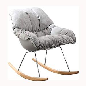BUSUANZ Fauteuil à bascule de loisir, design ergonomique, chaise de relaxation simple, chaise longue pliante, en métal, pour extérieur, terrasse, jardin, gris