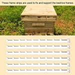 BuyWeek Entretoise de Cadre de Ruche, 6 pièces de Haute qualité en métal Durable eehive Bandes de Cadre entretoises équipement d'apiculture Apiculteur