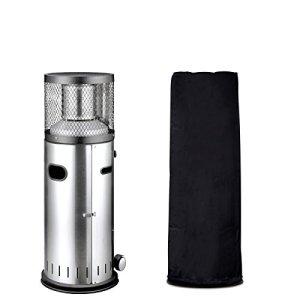 Chauffage de terrasse Enders Polo 2.0–Chauffage à gaz Bundle avec étui–de terrasse en acier avec réglage en continu de régulation, sécurité anti-basculement & Roues de transport–Marque allemande