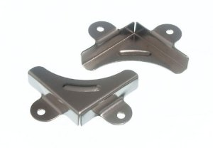 coin miroir clip de fixation support de montage de serrage cp + vis (pack de 4)