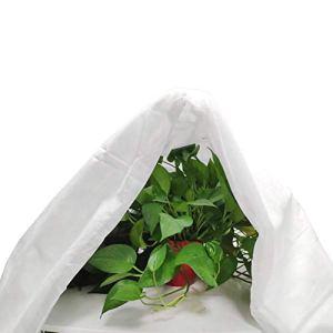Couverture de protection contre le gel des plantes d'hiver, réutilisable, protection contre le gel pour arbustes et arbres, protège vos plantes contre les dommages (blanc) – 2,5 m x 7,5 m