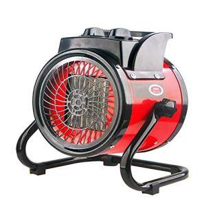 CRZJ Appareil de Chauffage électrique Industriel portatif, Appareil de Chauffage à air à température constante, Appareil de Chauffage de Patio Commercial, Protection Contre la surchauffe,2kw
