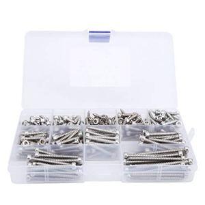 Cuifati Vis autotaraudeuse 270Pcs Pas Besoin d'utiliser des écrous avec Filetage autotaraudeur pour Le métal en Plastique, Le Bois ou Le Fer Fin
