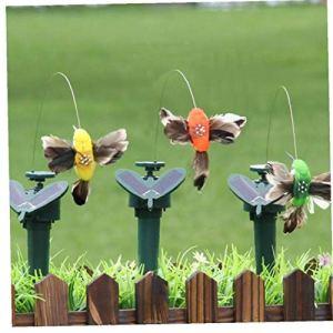 CULER Extérieur énergie Solaire électrique Décoration Danse Artisanat Volant Jardin Fluttering Vibration Pâques Couleur aléatoire
