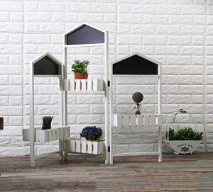 CZWYF Pays d'Amérique Rétro Boîte De Fleur Écran Jardinage Décoration Balcon Jardin Fleur Shop Cafe Décorations / 43.3x39inches (Color : White)