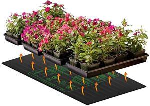 dfff Coussin Chauffant pour semis Coussin Chauffant hydroponique IP67 étanche Chaud pour démarreur de semences de Jardin intérieur (48″x 20″)