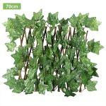 didatecar Treillis De Haie De Lierre Artificiel Treillis Extensible Vert Panneau De Contrôle De La Confidentialité pour Jardins, Balcons Et Terrasses