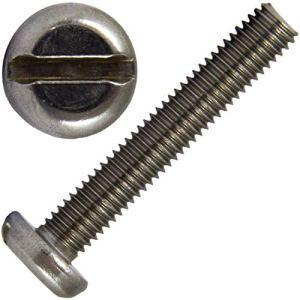 Faston Lot de 100 vis à tête plate à fente M4x20 DIN 85 en acier inoxydable A2 V2A (100 pièces) Vis à tête plate