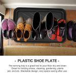 FAVOMOTO Plateau à Chaussures Noir Intérieur Extérieur Chaussures de Démarrage Plateaux D'égouttement Plaque de Rangement Polyvalente Coffre de Voiture Articles Divers Plaque de Rangement