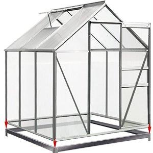 FONDATION Base 190x190cm en Acier Galvanisé pour Serre de Jardin   Abri de Jardin