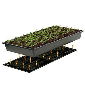 FXQIN Tapis Chauffant De Semis, Coussin De Chauffage Hydroponique Imperméable pour Semis, avec Système D'arrêt Intégré, 122×50.8cm,USPlug