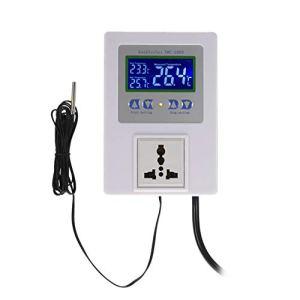 GAOHONGMEI Nouveau régulateur de température numérique Intelligent Régulateur Thermique précâblé avec Thermostat Thermostat Chauffage Interrupteur de Commande de Refroidissement-White-Onesize