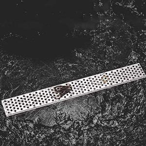 GJX Rigole d'évacuation avec Grille, Conduit de draina Douche de Douche linéaire, filtrage impuretés Éviter Le Blocage de Blocage Rapide Drainage sans Odeur Couvre-Grille de Ravin, 11Size