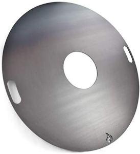 Grillrost.com Das Original Plaque à feu 80 et 100 cm et Accessoires pour Les canons à feu et Les grilles à Boules, Größe:Feuerplatte Ø 100cm