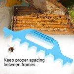 Growcolor Cadre de Cellule d'abeille – Accessoires d'apiculture Cadre de Cellule d'abeille Spcing Outil d'espacement(Boîte 7 Bleu)