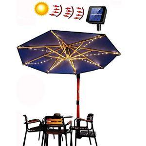 Guirlande lumineuse solaire LED pour parasol, parasol, éclairage solaire, éclairage de parasol, éclairage solaire LED pour parasol, tente de camping.