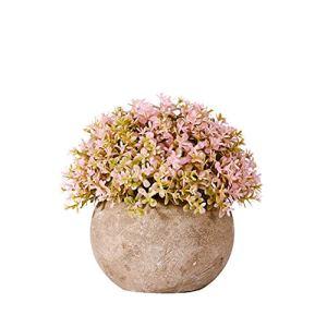 hanbby Fausse Plante Plante Artificielle Interieur Bureau Décor Décor à la Maison Plantes artificielles Plante en Pot Intérieur en Pot Plantes D'extérieur Pink,1pc