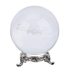 Haofy Décoration Art Décor Boule de Cristal, K9 Crystal Suncatchers Ball Photographie Boule de Cristal, Accessoire décoratif et Photographie (80 mm / 3,15″avec Support)(D)