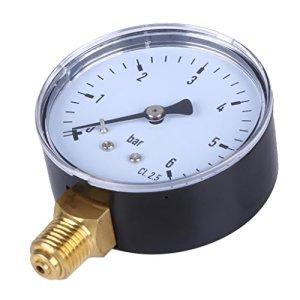 harayaa 1x Manomètre de Pression Manomètre Jauge Hydraulique 1/4 Pouce NPT
