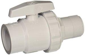 Hayward Trimline 2voies Soupape à bille, 1–1/5,1cm SKT Tuyau en PVC Matériau FIP