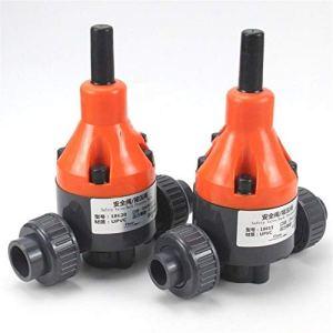 HEQIE-YONGP Tuyau Accessoires Accessoires de réparation 1pc D.I. 20~75mm UPVC Soupape de sécurité Industrielle Traitement de l'eau tuyaux en PVC-Pression Valve Double Paritaire Vanne de régulation
