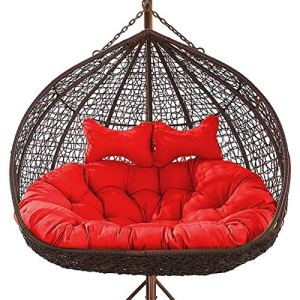 HEXEK Thickened Balcony Egg Nest Chair Pad Double Hanging Hammock Chair Cushion Basket Swing Seat Mat for Patio Backyard Lawn a (Color : C)