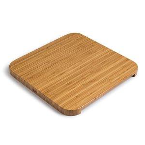 höfats – Cube Planche d'appui – Fait du Cube Un Tabouret, Une Table d'appoint ou Une Tablette de Service – laquée – Bambou Massif – Accessoire pour brasero Cube