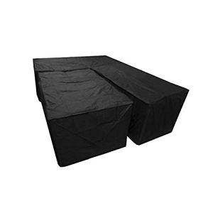 Housse de protection, housse de protection étanche en deux pièces en forme de L et housse de meuble rectangulaire, housse de rotin pour canapé d'angle de meuble d'angle coupe-vent et résistant aux UV